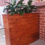 Timber planter box