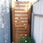 Stylish wooden gate